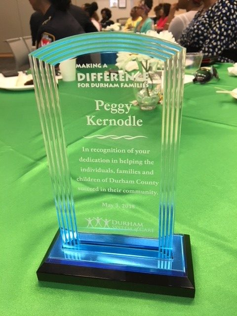 Making a Difference Award plaque