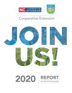 Cover photo for Durham County Center 2020 Report to the Community