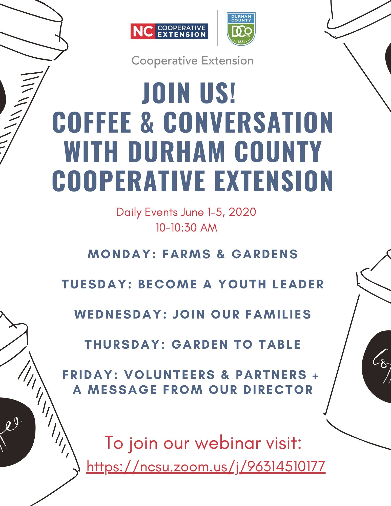 Join Us! Coffee & Conversation with Durham County Cooperative Extension