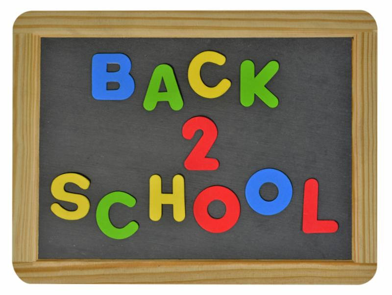 Back 2 School chalkboard