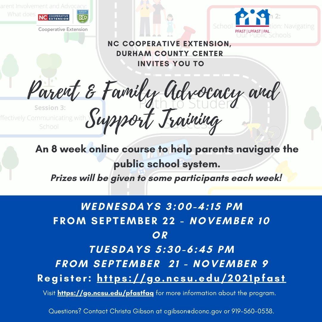 flyer for PFAST program
