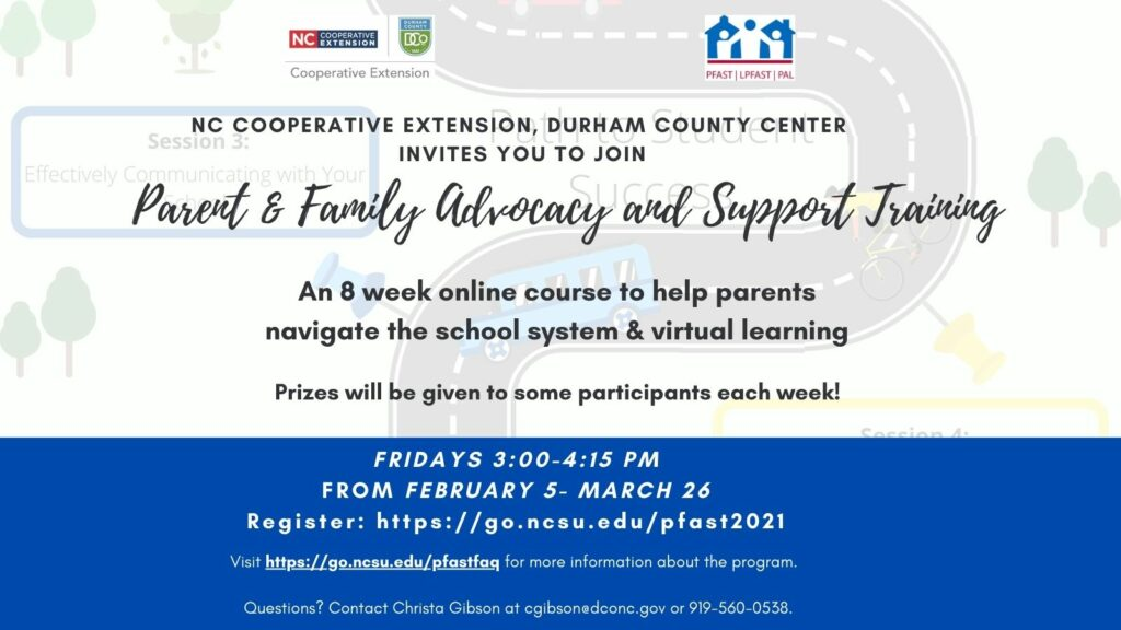 Parent & Family Advocacy Training flyer