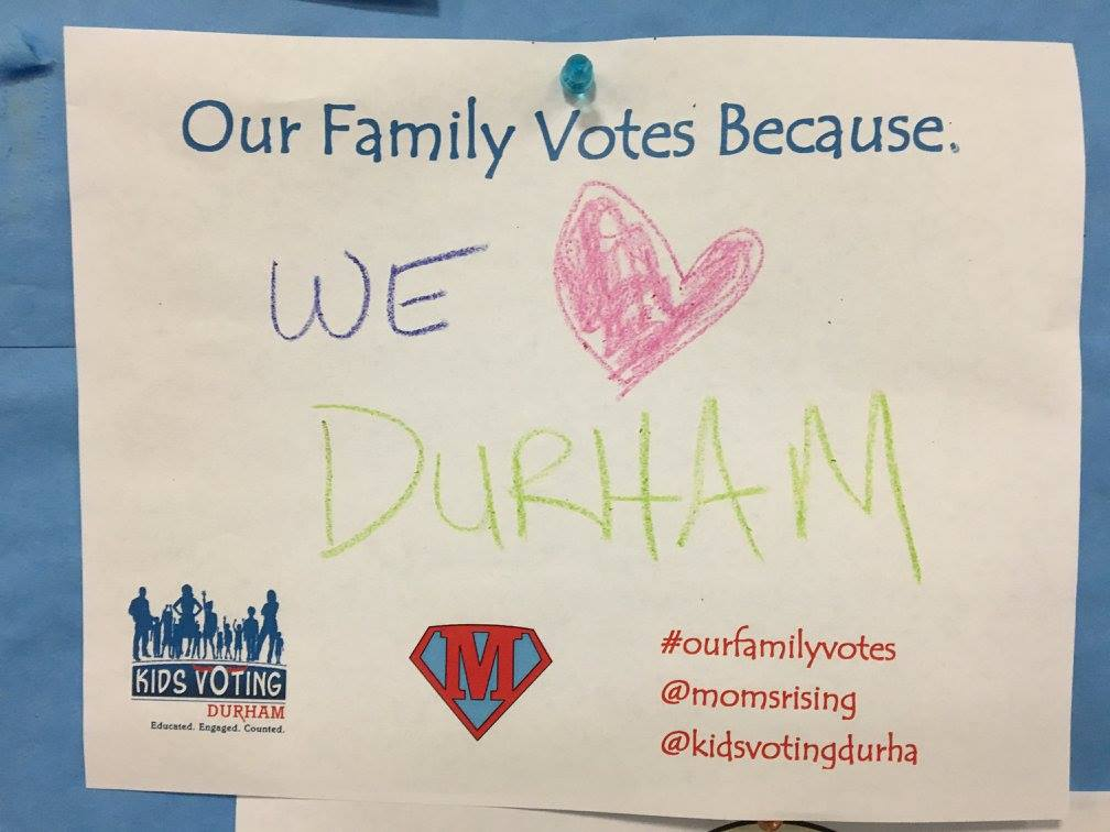 We Love Durham written in crayon