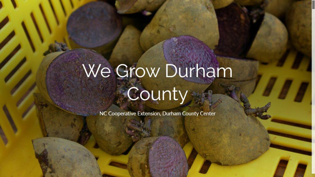 We Grow Durham County header