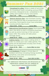 Summer Fun flyer page 1