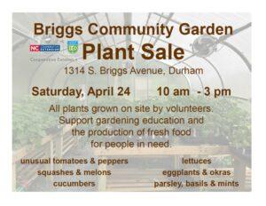 Cover photo for Briggs Avenue Community Garden Plant Sale