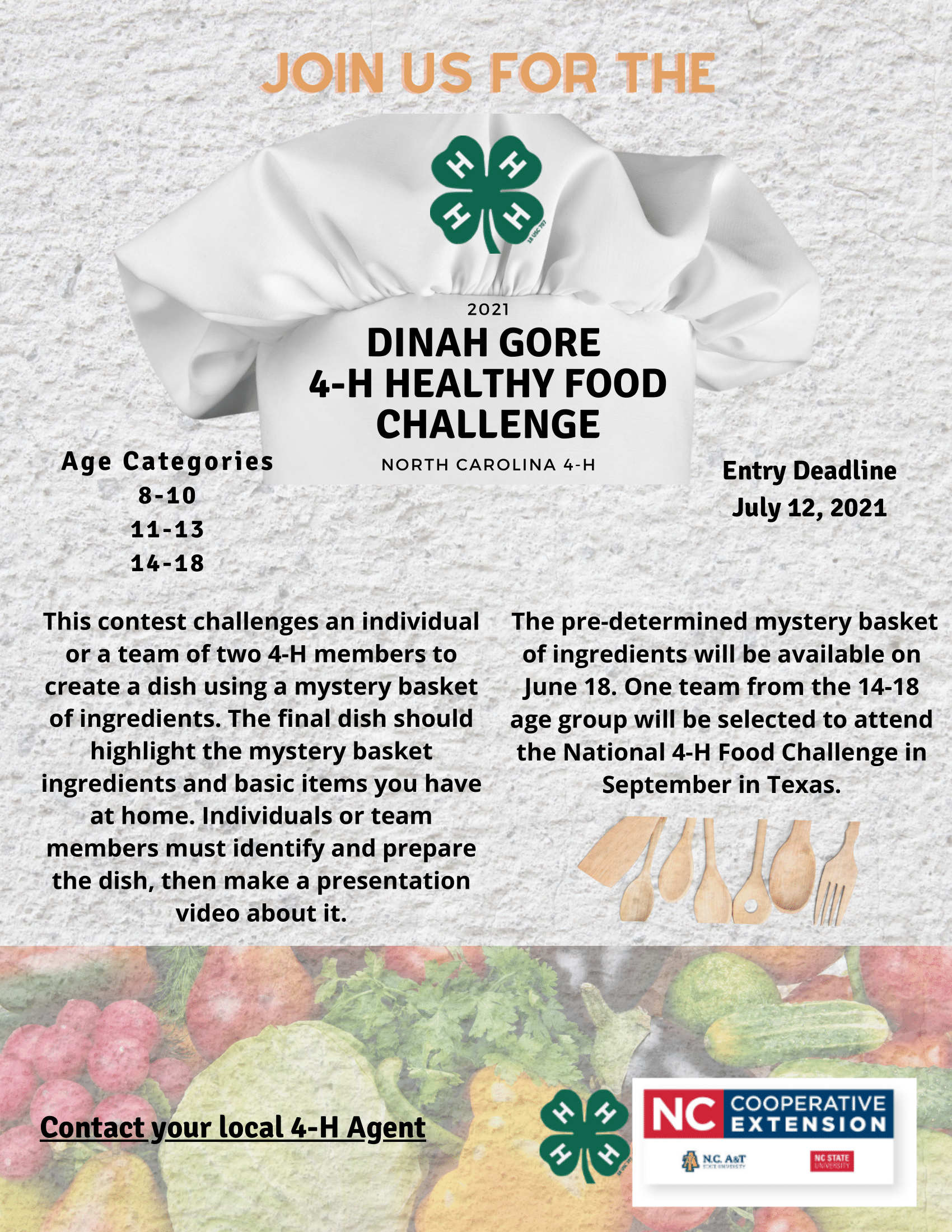 Healthy Food Challenge flyer image