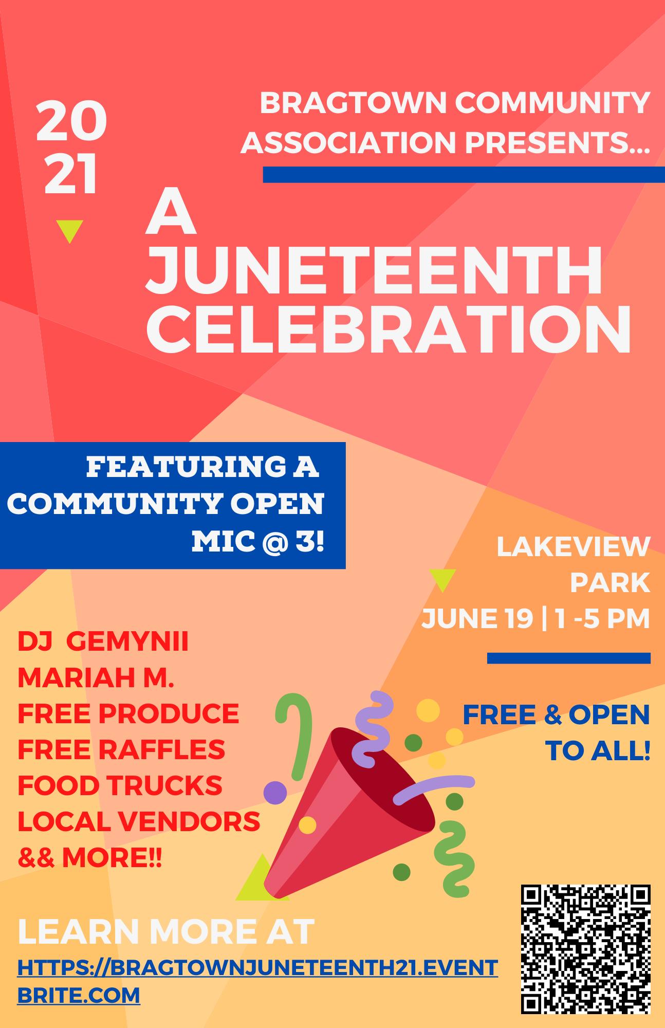 A Juneteenth Celebration flyer image