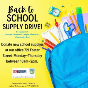 Cover photo for We're Collecting School Supplies!